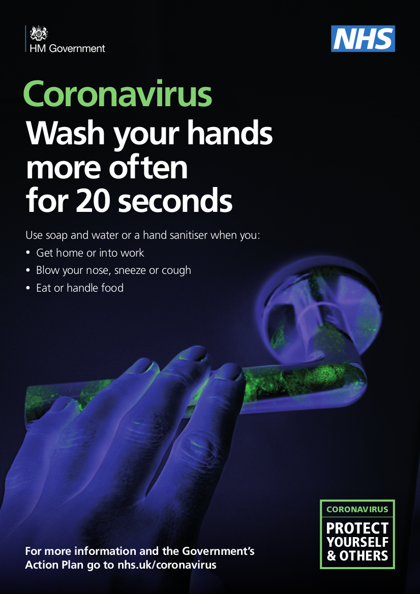 Wash your hands more often for 20 seconds